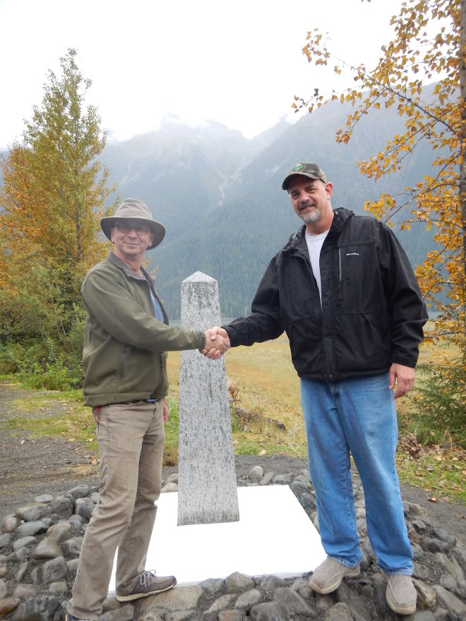 A new landmark on the Alaska/British Columbia boundary